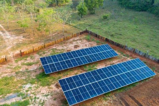 Uso de energia solar na Estância Mimosa e Recanto Ecológico Rio da Prata