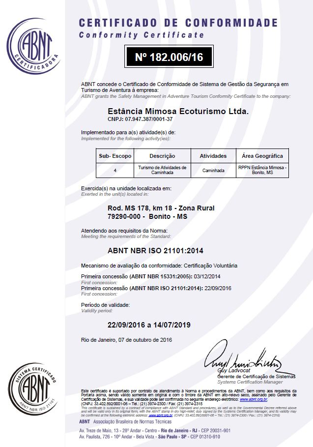 Certificado_SGS_Mimosa_2019