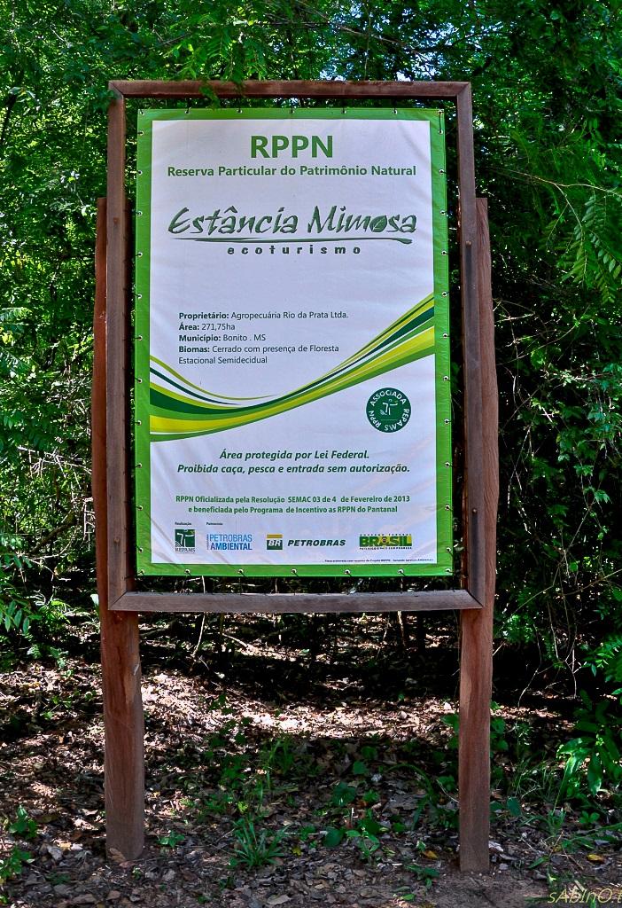 Placa RPPN Mimosa
